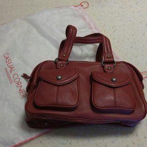 NWT Burgundy leather double handle medium handbag
